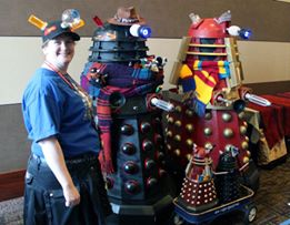 Docter Who Daleks at Sibley Sparkling Shuffle 5k July 3 2016